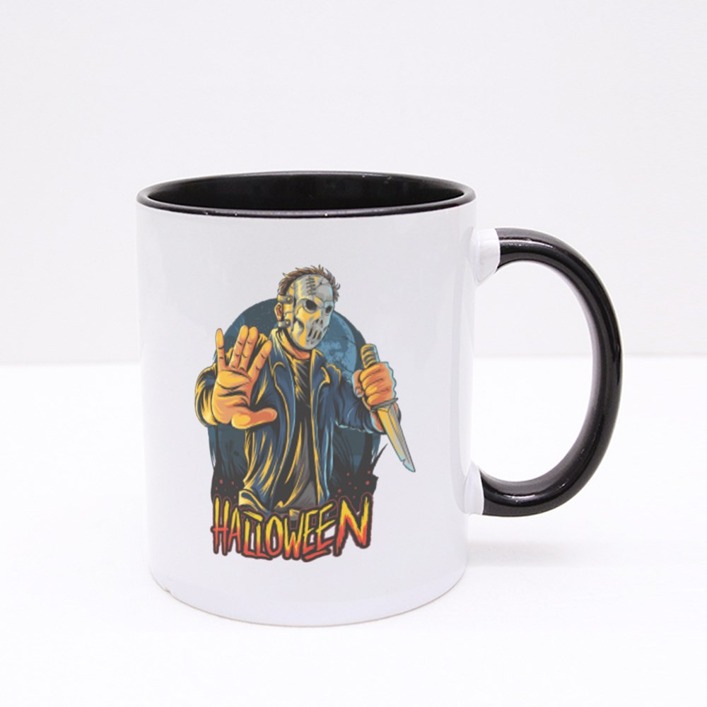 Masked Man Halloween Party Colour Mugs