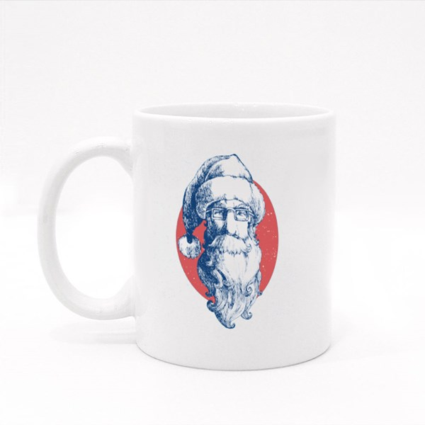 Santa Claus Face Colour Mugs