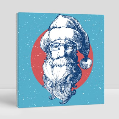 Santa Claus Face Canvas (Square)