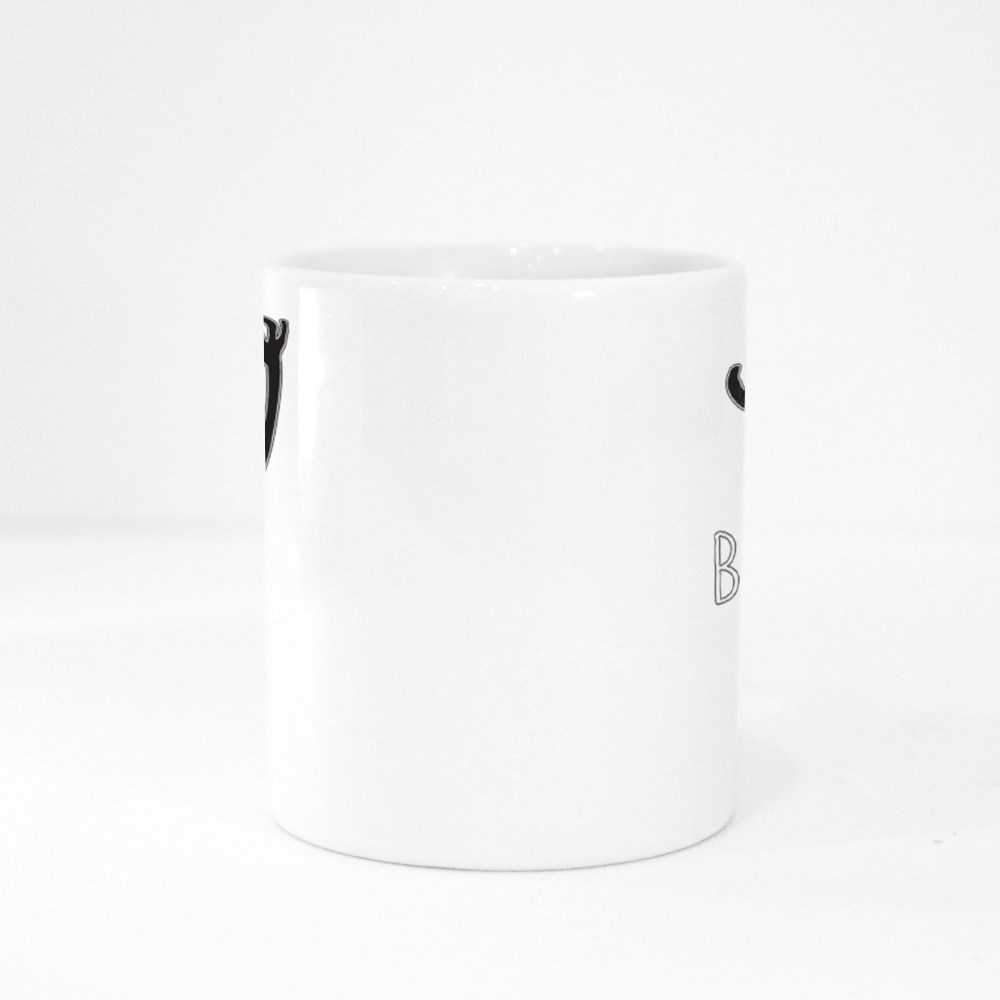 Cute White Little Ghost With Big Scary Shadow Colour Mugs