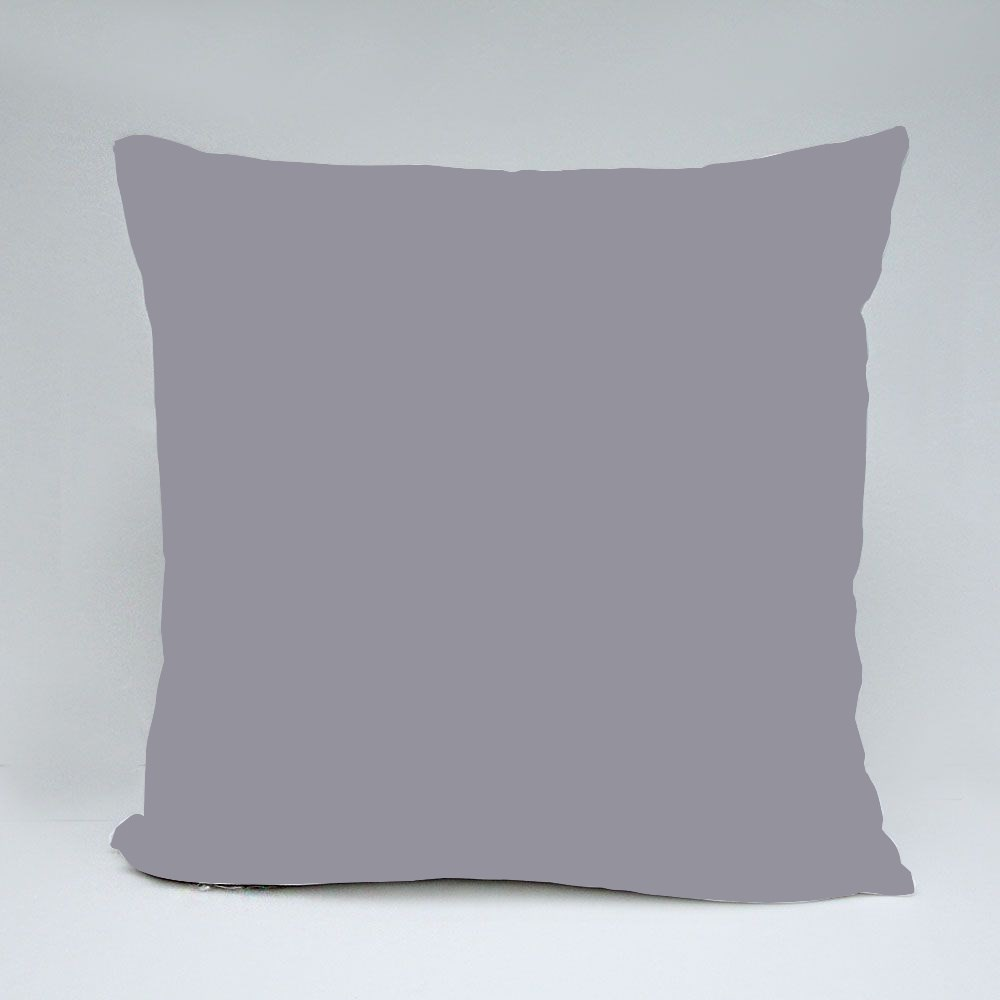 Cute White Little Ghost With Big Scary Shadow Throw Pillows