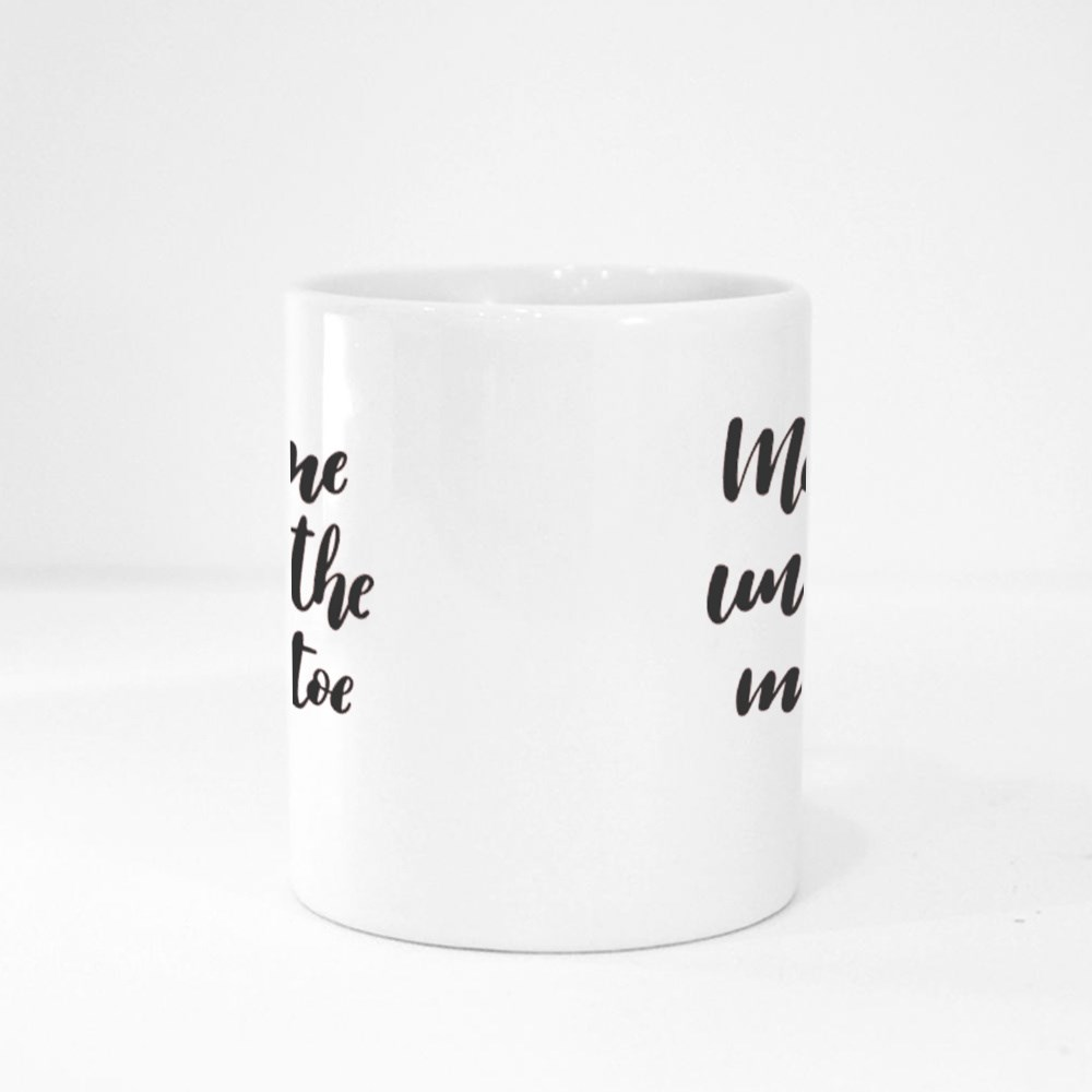 Meet Me Under the Mistletoe. Hand-Lettered Christmas Quote Print Magic Mugs