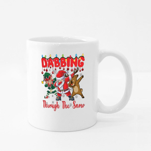 Dabbing Through the Snow Christmas Colour Mugs