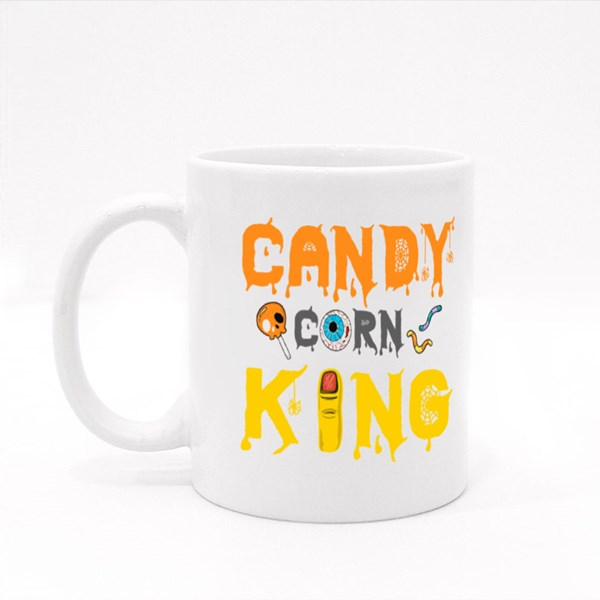 Candy Corn King Halloween Tshirt Colour Mugs