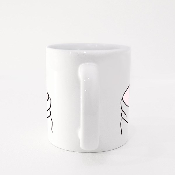 Korean Love Sign, Valentine's Day Colour Mugs