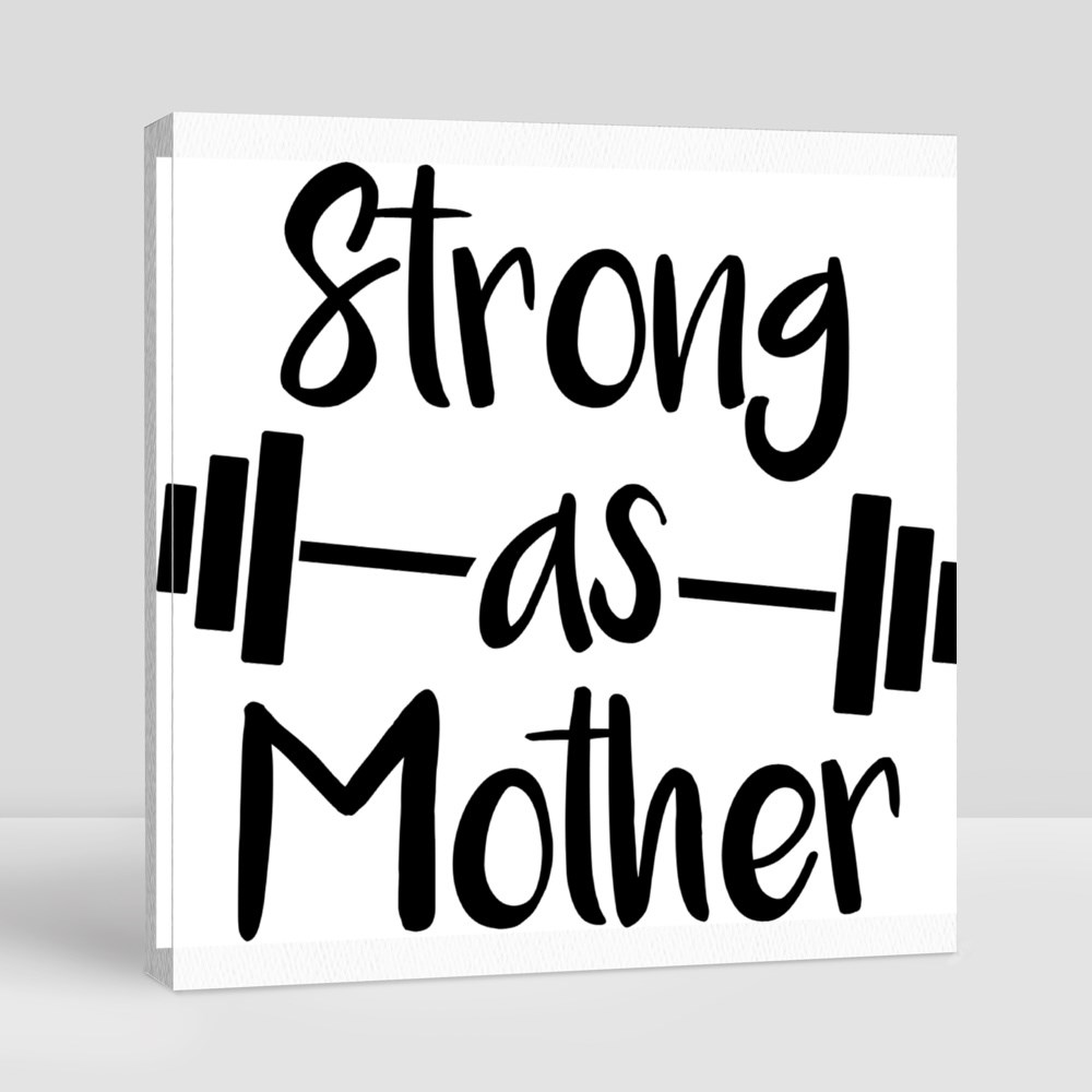 Strong as Mother. Motherhood Quote Vector Canvas (Square)