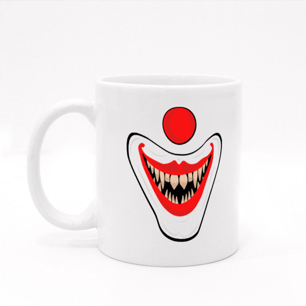 Scary Clown Mouth Smiling Colour Mugs