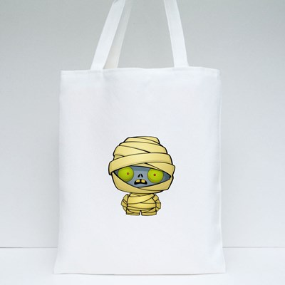 Halloween Cute Mummy Tote Bags