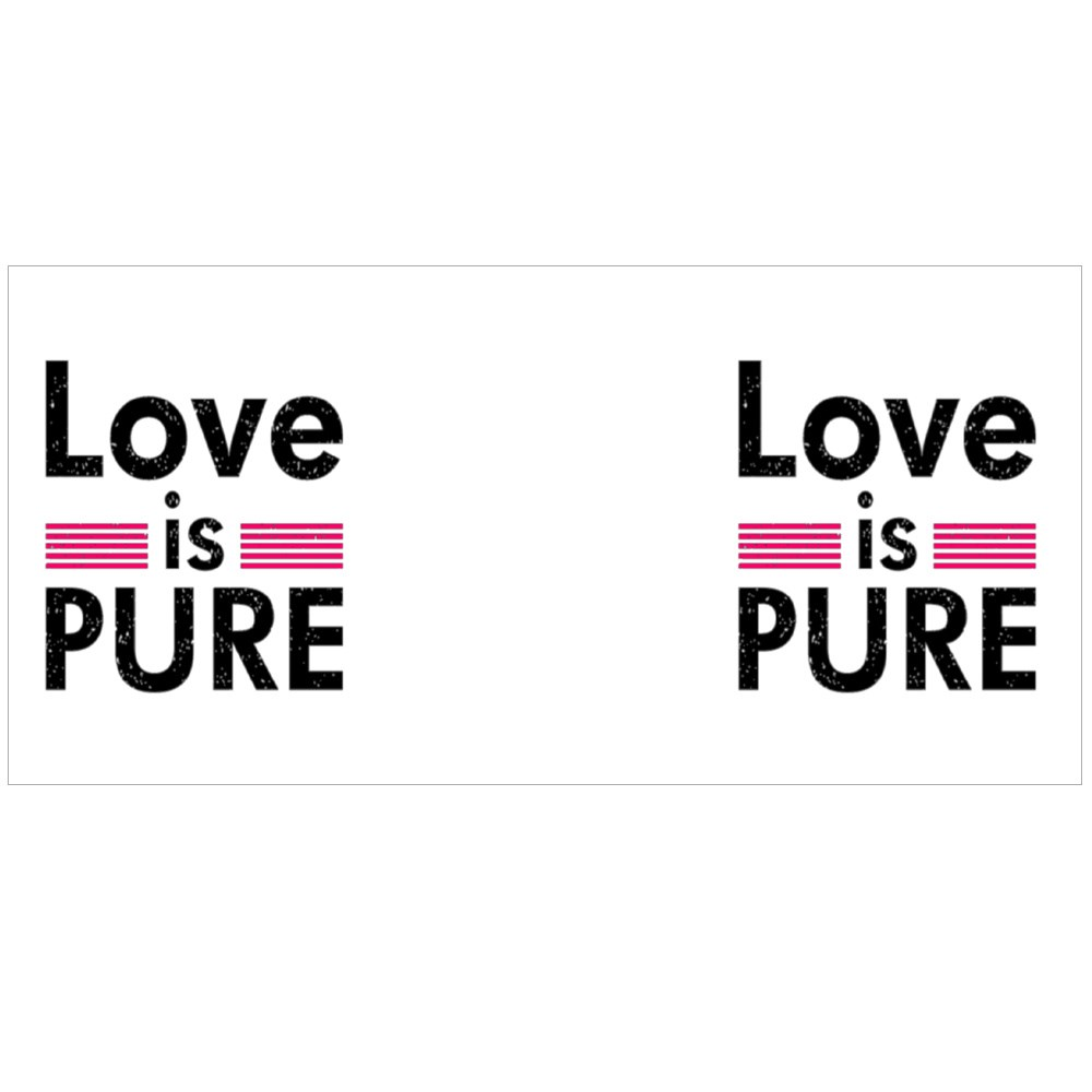 Love Is Pure Typography Colour Mugs