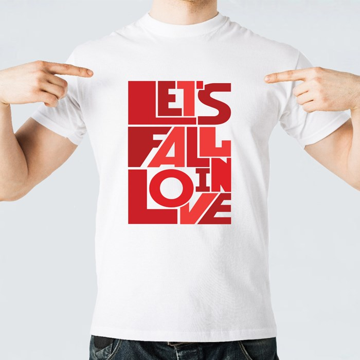 Lets Fall in Love Design T-Shirts