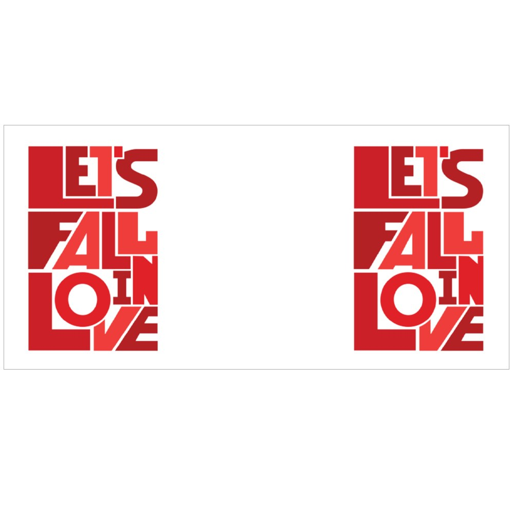 Lets Fall in Love Design Colour Mugs