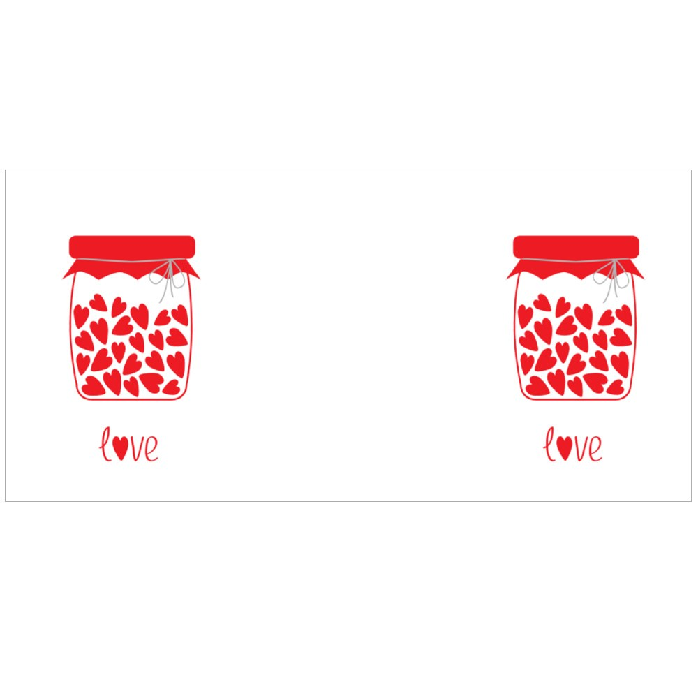 Love Bottle With Hearts Inside Colour Mugs