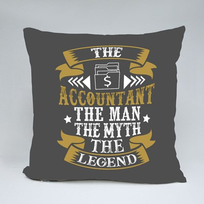The Accountant the Man the Myth the Legend. Profession Quote Throw Pillows