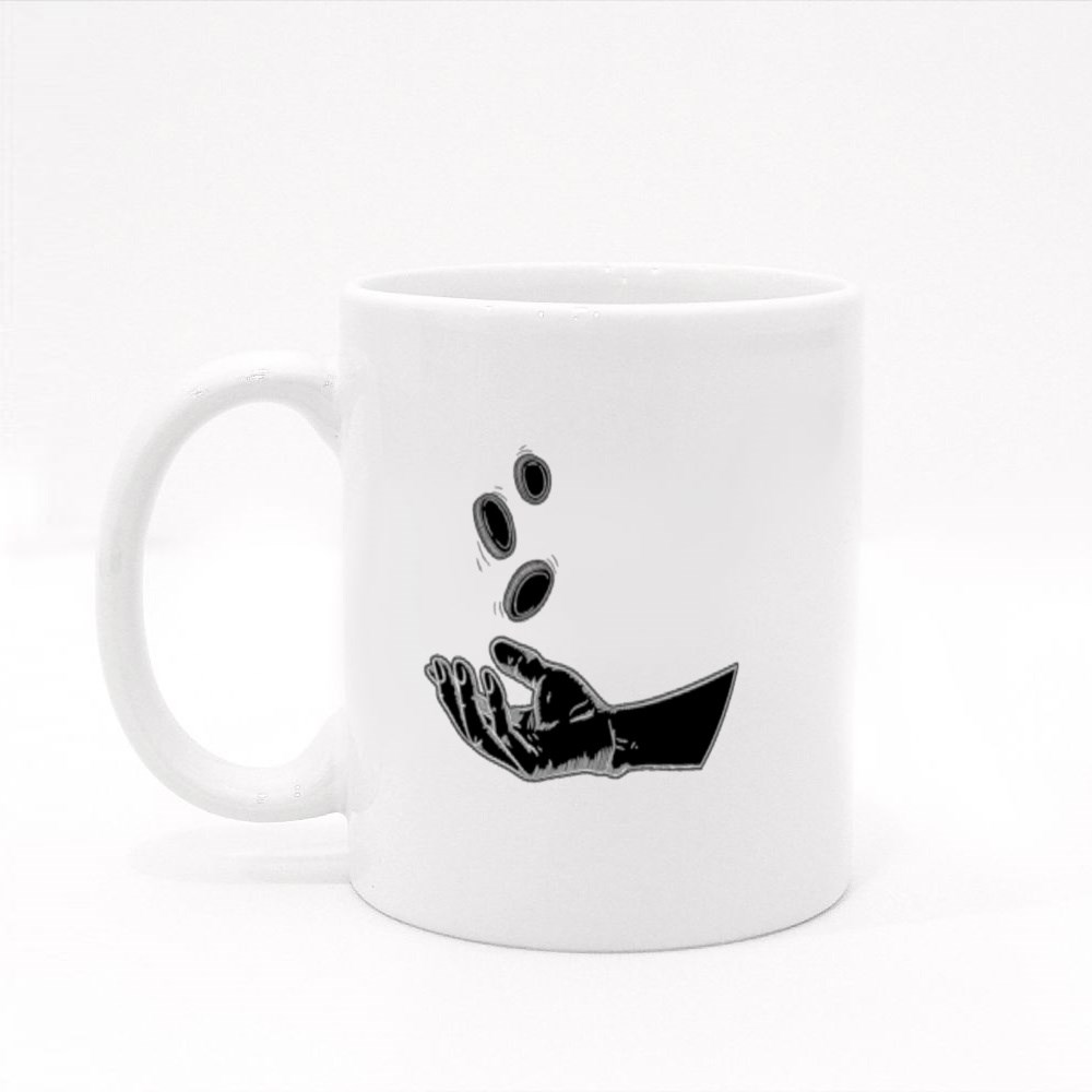 Illustration Hands Giving for Charity Colour Mugs