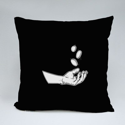 Illustration Hands Giving for Charity Throw Pillows