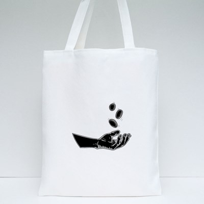 Illustration Hands Giving for Charity Tote Bags