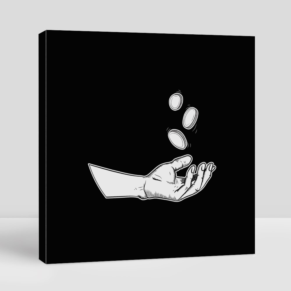 Illustration Hands Giving for Charity Toile (Carrée)