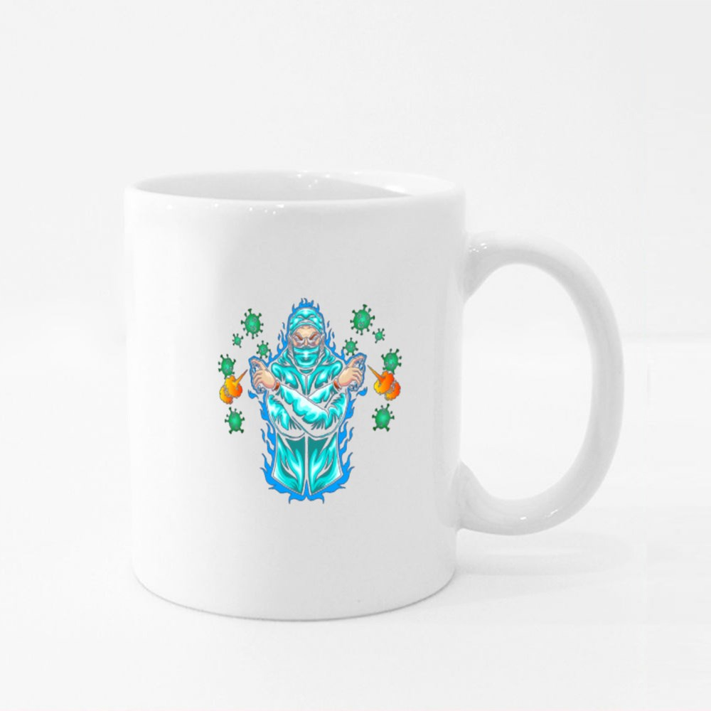 Fight Against Illustration Perfect for Tshirts Design Colour Mugs