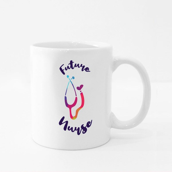 Future Nurse Colourful Wording Colour Mugs