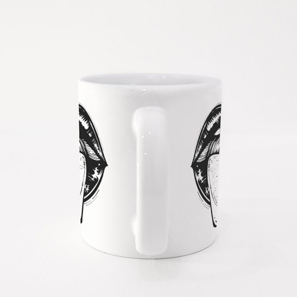 Open Mouth With Red and Blue Pill on Tongue Colour Mugs