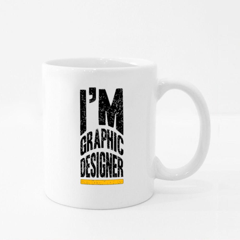 I'm Graphic Designer Typography Colour Mugs