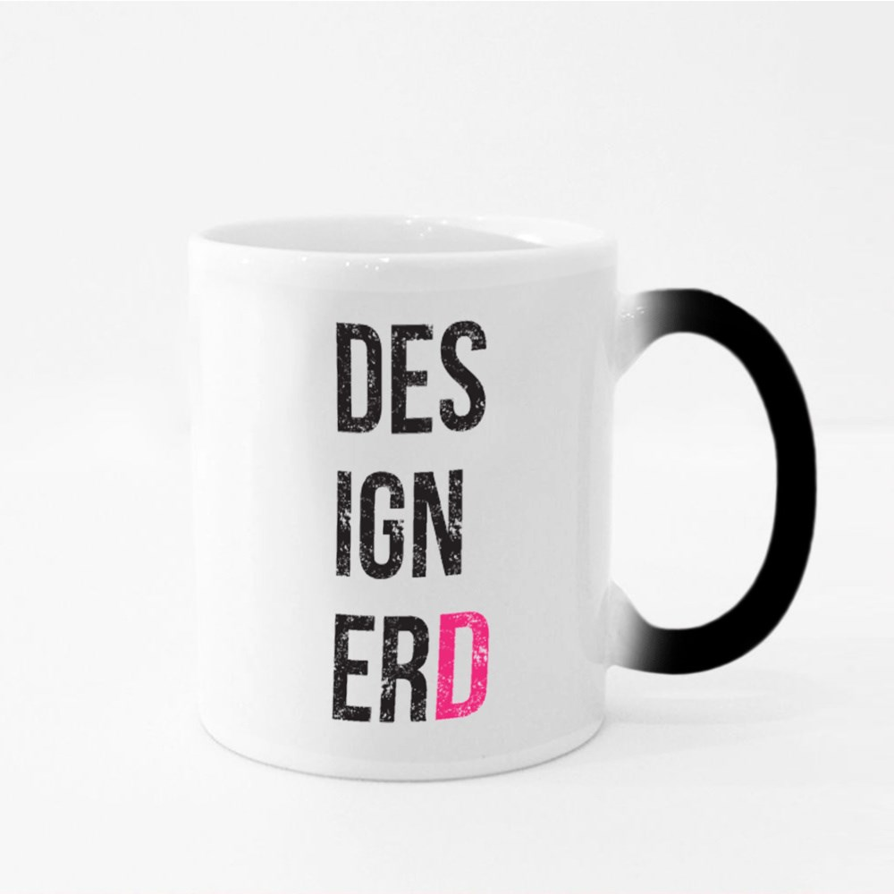 'Designerd' Poster for Homes and Offices. Designer and Nerd Magic Mugs