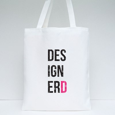'Designerd' Poster for Homes and Offices. Designer and Nerd Tote Bags