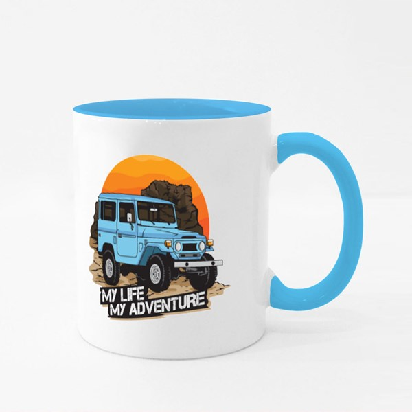 Off Road Vehicle in the Rock Mountain Colour Mugs
