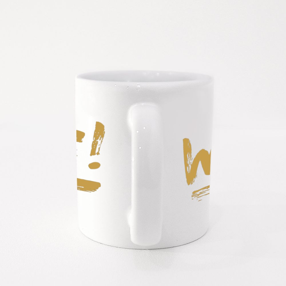 Wtf Lettering, Handwritten Sign Colour Mugs