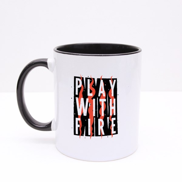Play With Fire Grunge Colour Mugs