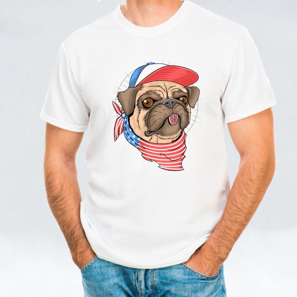 Pug Usa Flag Dog T-Shirts
