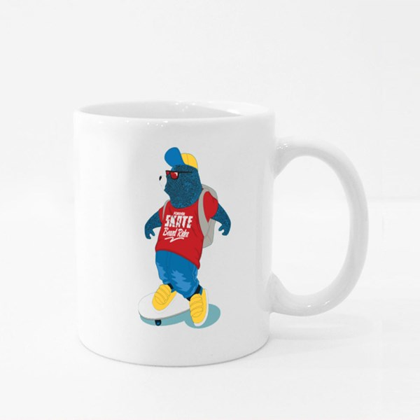 Forever Skate Board Rider, Blue Bear Colour Mugs