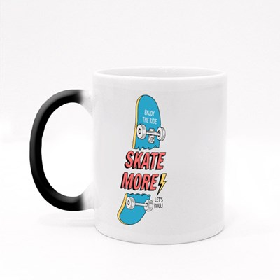 Enjoy the Ride, Skate More Magic Mugs