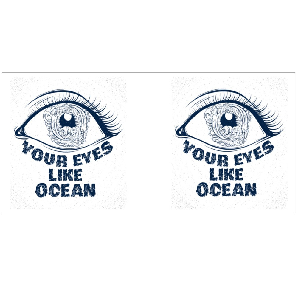 Your Eyes Like Ocean With Sketch of Eyes With Fish and Waves in Pupil Magic Mugs