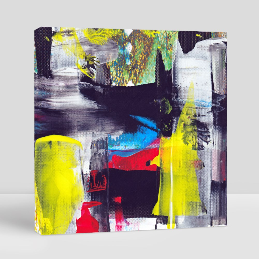 Wide stroke Abstract Acrylic Painting Canvas (Square)