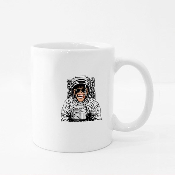 Funny Chimpanzee in an Astronaut's Suit Colour Mugs