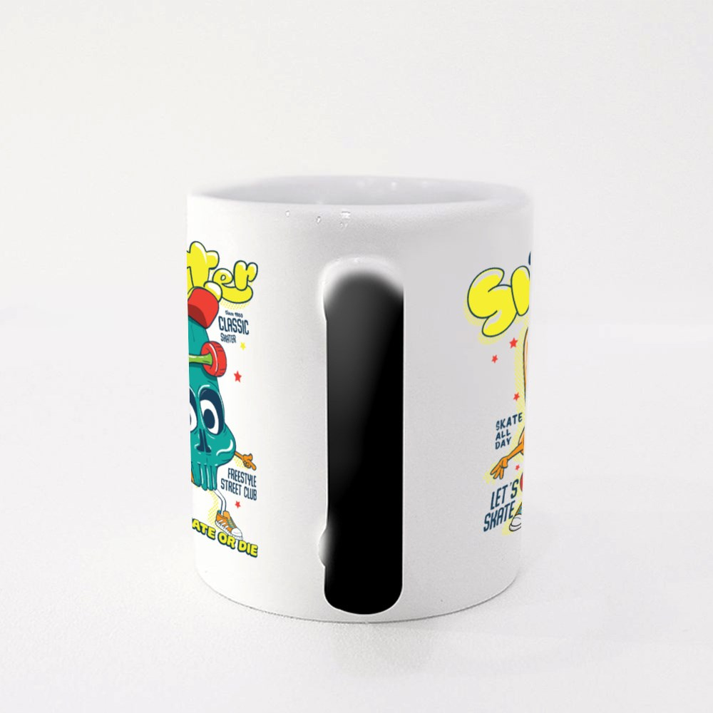 Cool Skater, Skate or Die Magic Mugs