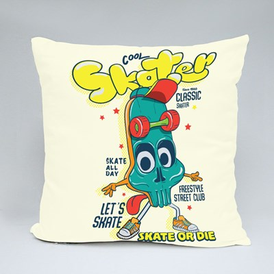 Cool Skater, Skate or Die Throw Pillows