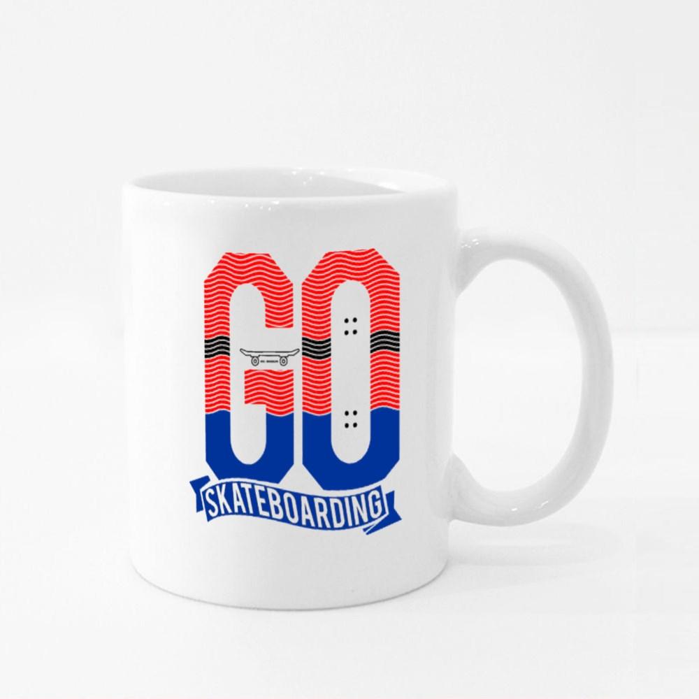 Go Skateboarding Colour Mugs