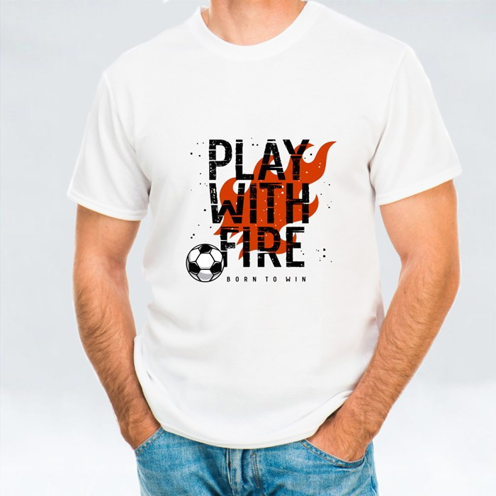 Fire Flame and Football T-Shirts