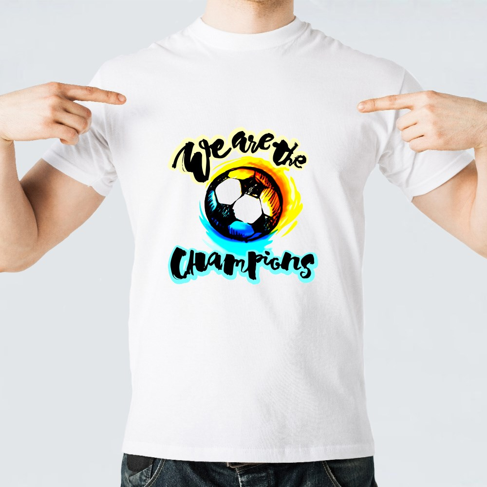 Soccer Cup Champion Lettering Style Motivation Poster T-Shirts