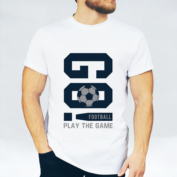 Football Typography T-Shirts