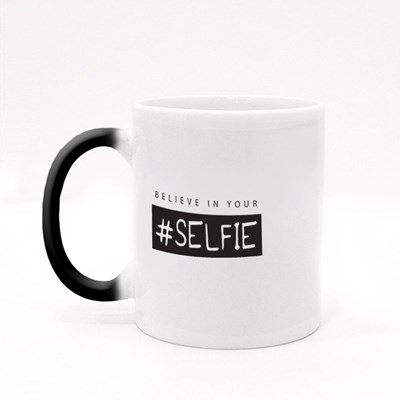 Believe in Your Selfie Typography Magic Mugs