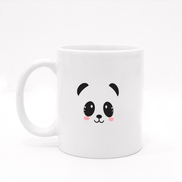 Cute Panda Face Colour Mugs