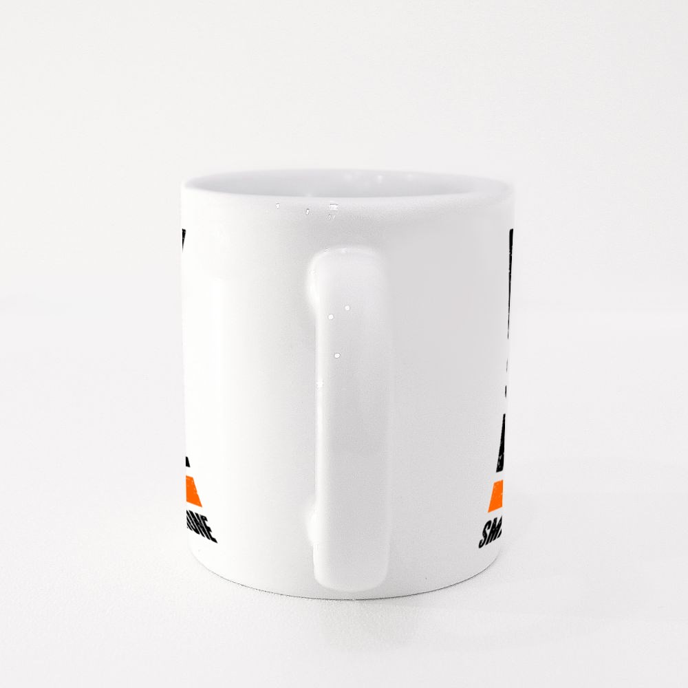 I'm Smart People Not Smartphone Typography Colour Mugs