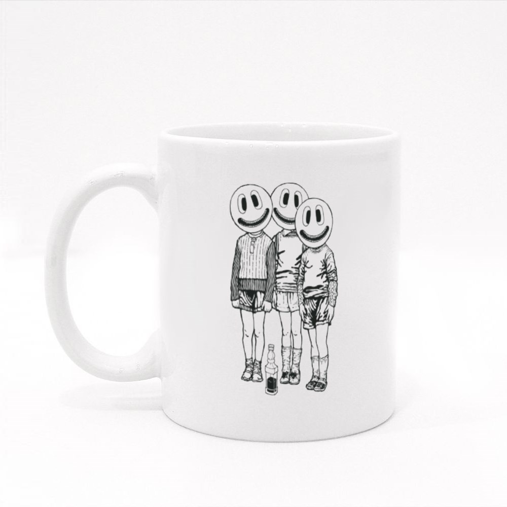 Three Friends and a Bottle of Whiskey Colour Mugs