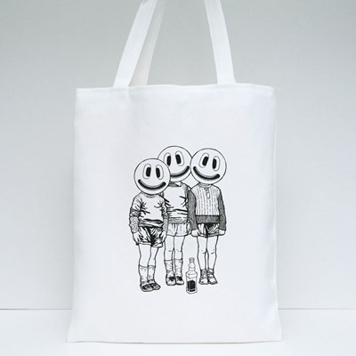 Three Friends and a Bottle of Whiskey Tote Bags