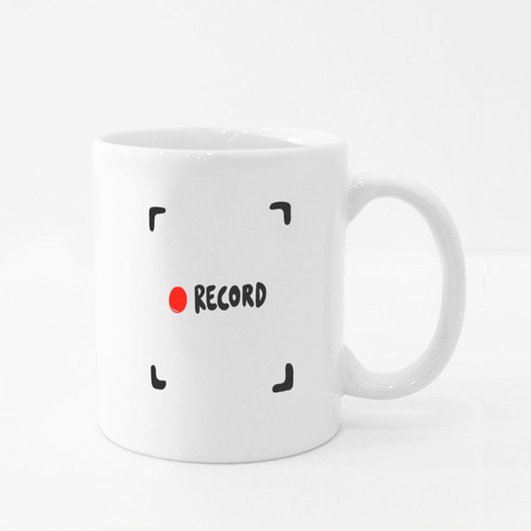 Record Button. Sticker for Social Media Content 彩色杯