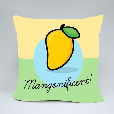 Mangonificent, Cute Mango Throw Pillows
