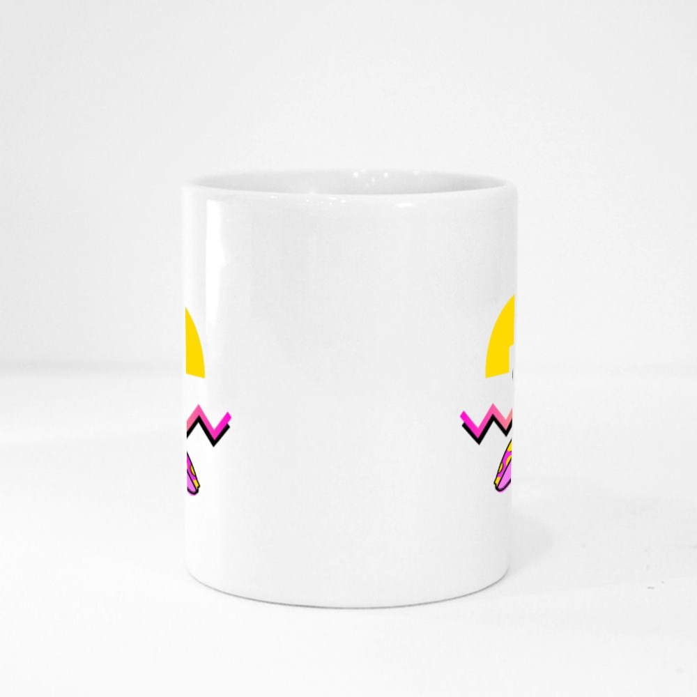Summer Party Poster Pattern Set, Geometric Memphis Style Magic Mugs